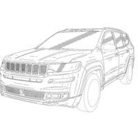 Estos bocetos muestran el rosto del Jeep Yuntu de producción