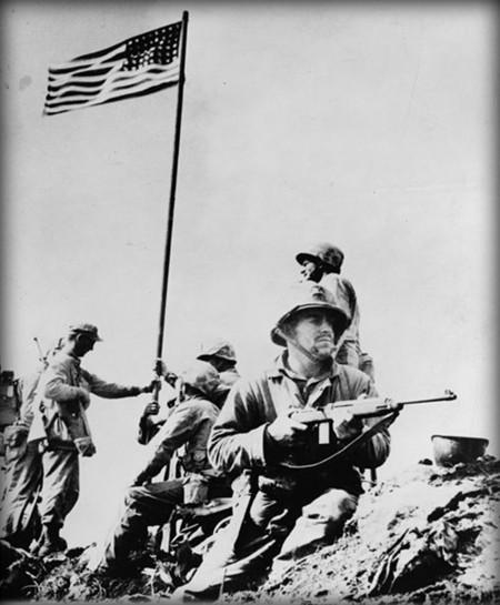 Toma De Iwo Jima Foto Verdadera