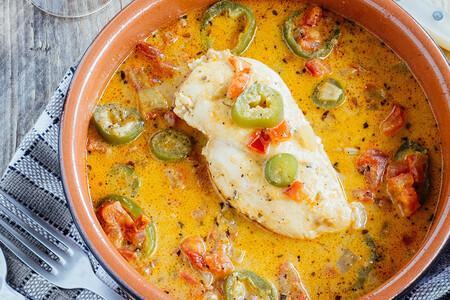 Pollo en salsa de Jalapeños