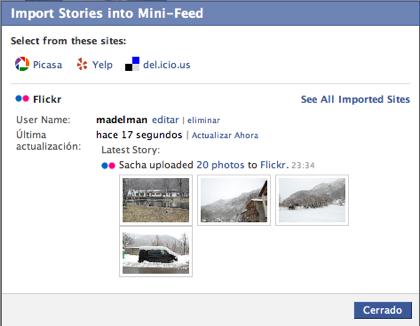 Facebook lifestreaming