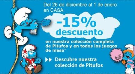 15% de descuento en artículos de Los Pitufos en Casa