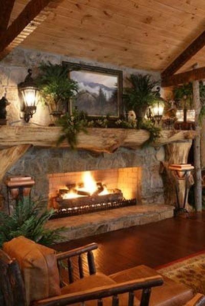 Una Chimenea En Casa Un C Lido Invierno Tradicional