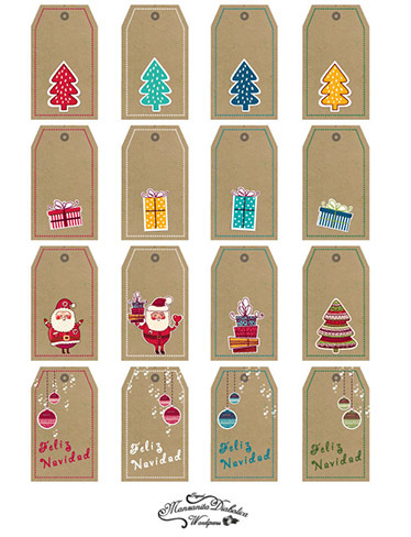 Etiquetas de regalo para imprimir