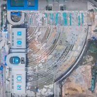 China rota una terminal de autobuses de 30.000 toneladas para hacer sitio a una estación de tren bala