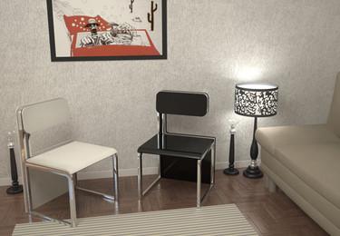 Dos objetos en un solo concepto: sillas que se transforman en una mesa
