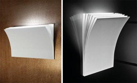 Lámparas que parecen folios