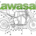 Kawasaki podría estar preparando una moto eléctrica tan potente que necesitaría refrigeración líquida de aceite