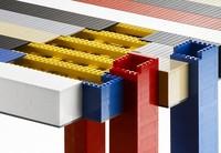 Versión en piezas de Lego de la mesa de café Histograma