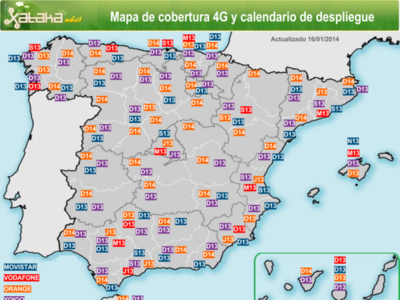 La cobertura 4G en España, repaso a su situación