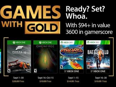 Forza Motorsport 5 y Oxenfree entre los Juegos con Gold de septiembre