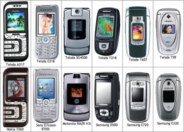 Originales y copias de teléfonos móviles