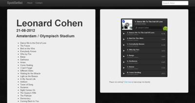 Spotisetlist, revive los conciertos de tus artistas favoritos a través de Spotify