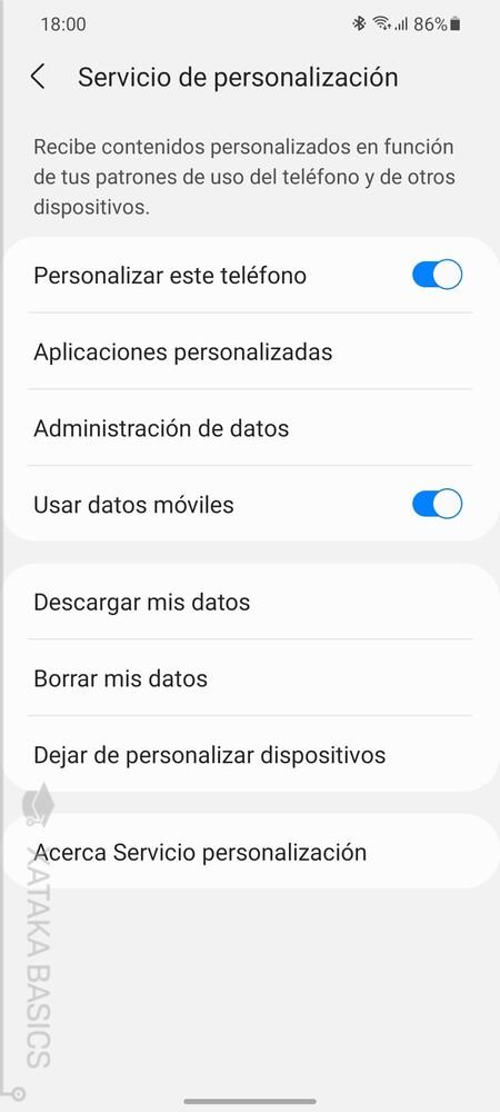 Personalizacion Samsung