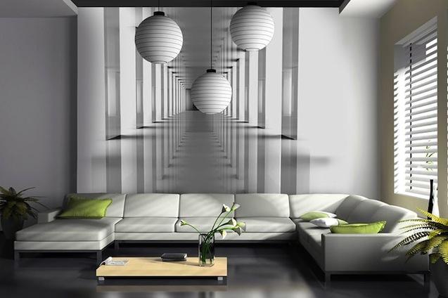 Paredes infinitas para ampliar visualmente el espacio for Papel pintado murales fotograficos