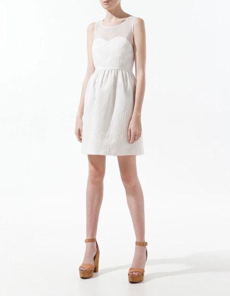 Vestidos blanco en zara