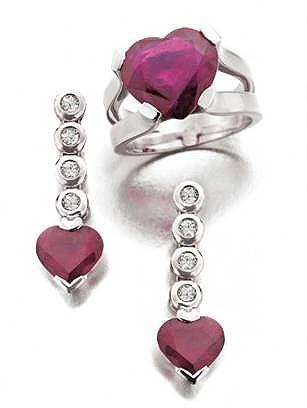 Rubíes y corazones para San Valentín