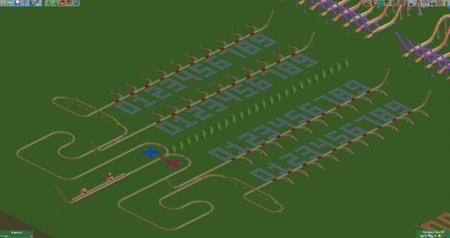 Un jugador de Rollercoaster Tycoon 2 ha creado una calculadora funcional en forma de montaña rusa