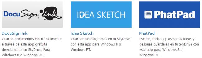 Aplicaciones que se sincronizan con SkyDrive