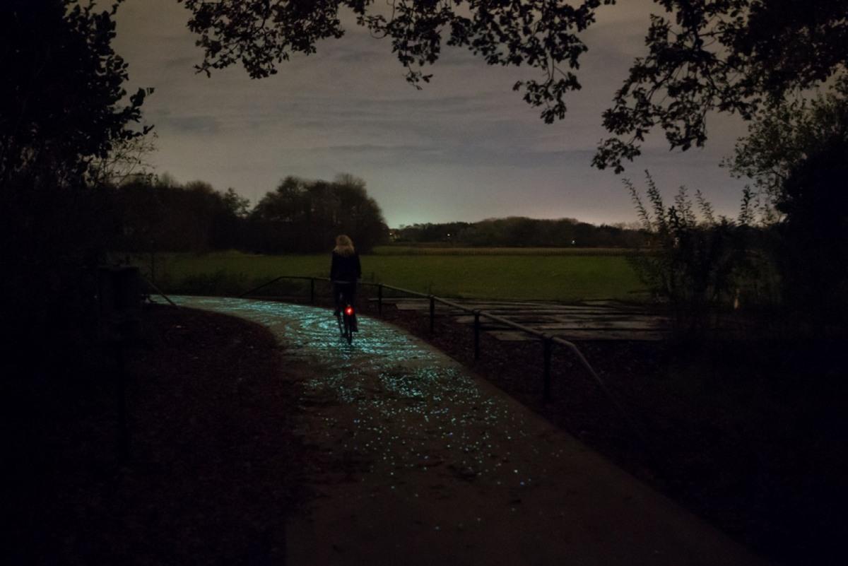 Foto de Carril bici La Noche Estrellada por Studio Roosegarde (6/9)