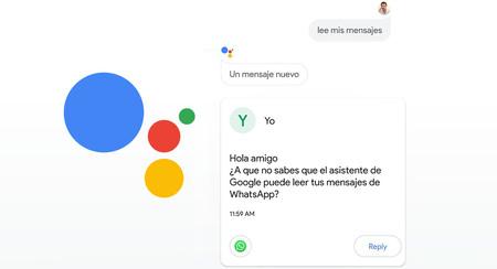 Ya puedes leer y responder con el Asistente de Google a mensajes de WhatsApp, Telegram, Messenger y más