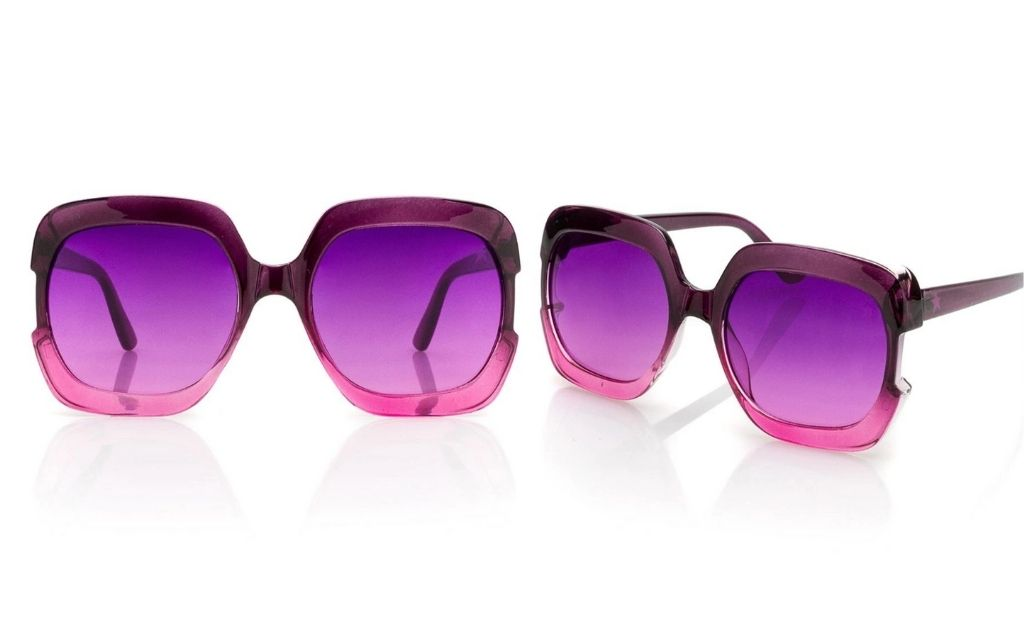 Gafas de sol de mujer Starlite de montura cuadrada en fucsia