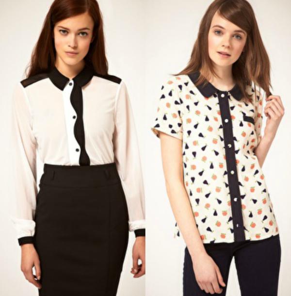 camisas contraste asos