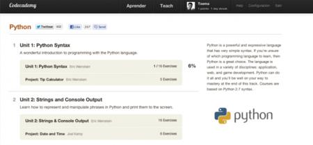 Codeacademy incorpora clases para aprender Python, awesome!