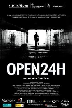 Cartel español de Open 24h