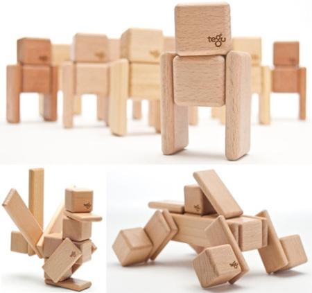 Tegu, bloques de madera magnéticos