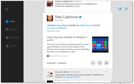 Twitter for Windows 8/RT