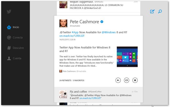 Twitter for Windows 8/RT