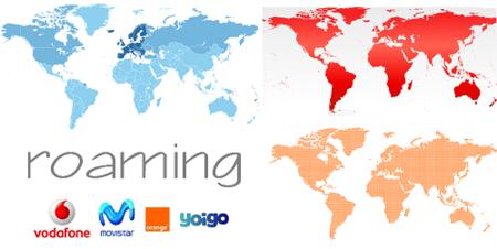 Comparativa tarifas de voz en roaming con los operadores con red propia