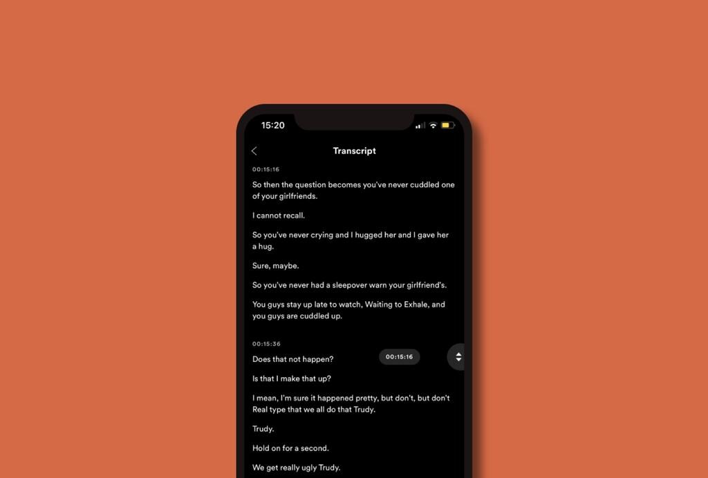 Spotify da otro paso para ser el rey de los podcasts: añade transcripciones automáticas para leer en vez de escuchar