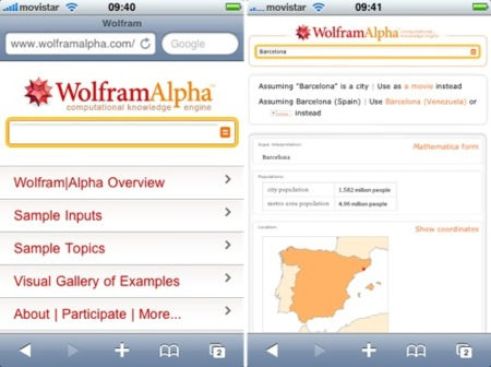 Wolfram Alpha estrena interfaz para el iPhone