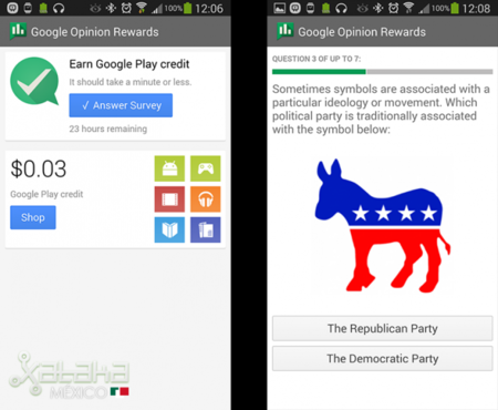 Google Opinion Rewards, encuestas remuneradas en crédito en la Google Play