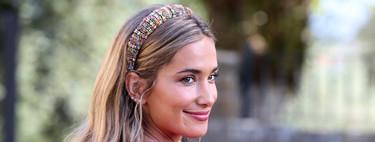 María Pombo apuesta por una diadema joya en la boda de su hermana acertando de pleno