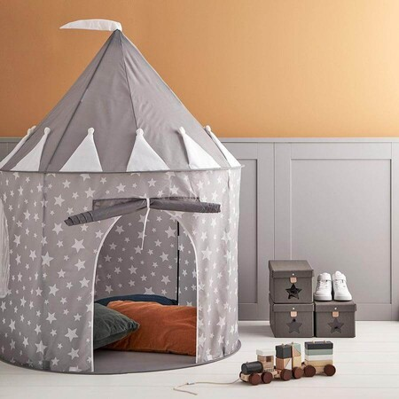 Kids Concept Play Tent In Star Grey 838426