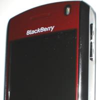 Blackberry roja, imagen real