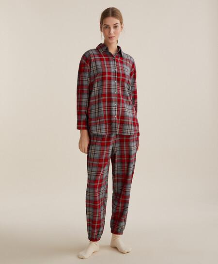 Pijama Tartan Navidad Oysho 00003
