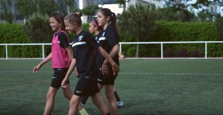 Chicas en el entrenamiento