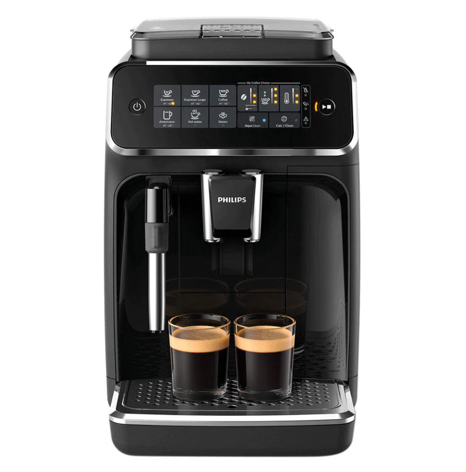 PHILIPS Cafetera espresso superautomática Philips serie 3200 con espumador de leche, 4 tipos de café