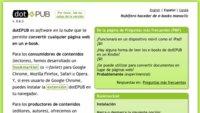dotEPUB te permite convertir con un click cualquier web en un libro electrónico