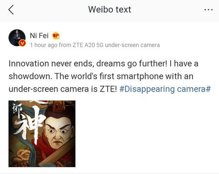 Zte A20 5g Under Screen Camera 2
