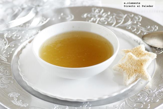 Consom de navidad mi receta tradicional for Cuchara para consome