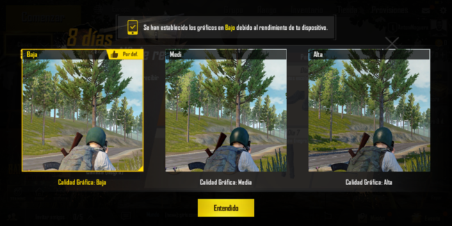 PUBG Mobile en el Alcatel℗ 3V
