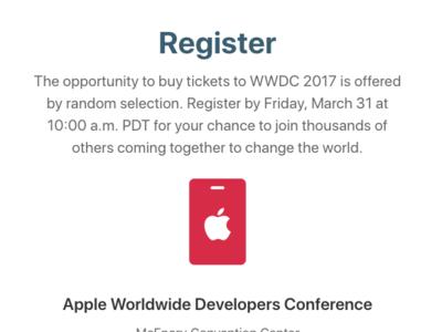Que la suerte te acompañe: la lotería de la WWDC ya ha abierto
