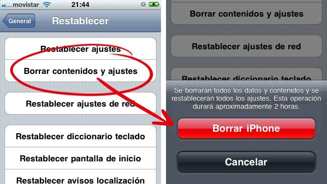 iOS borrado seguro iPhone