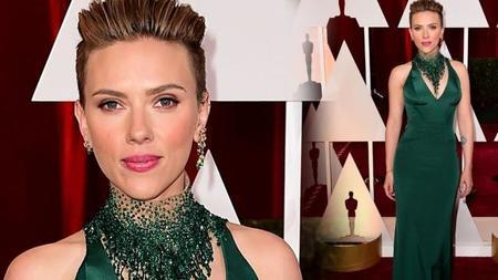 Scarlett Johansson fue noticia en los Oscars por sacarse leche entre bastidores