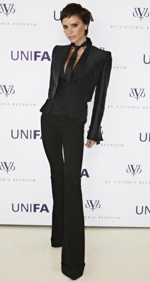 Victoria Beckham en la presentación de dVb denim en Alemania