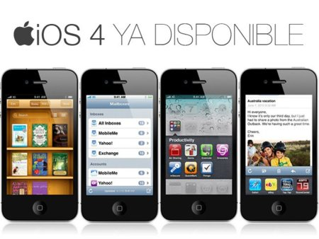 Apple lanza la actualización iOS 4